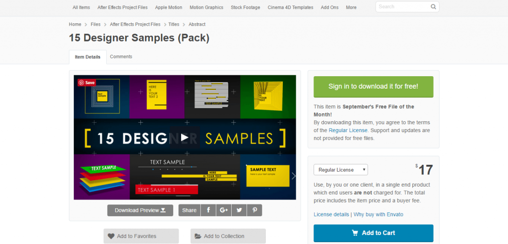 15 Designer Samples pack