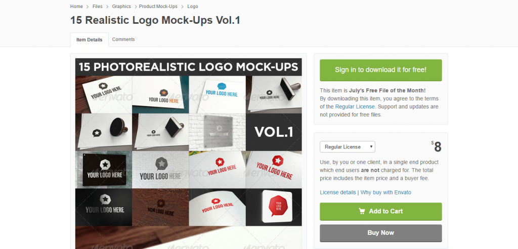 15 Realistic Logo Mock Ups Vol.1 GraphicRiver