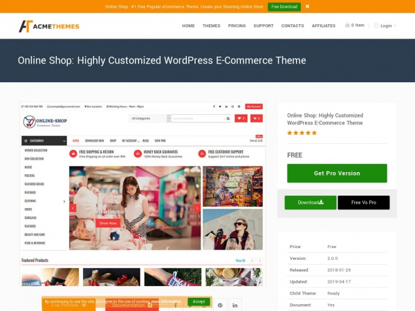 Online Shop by Acme Themes