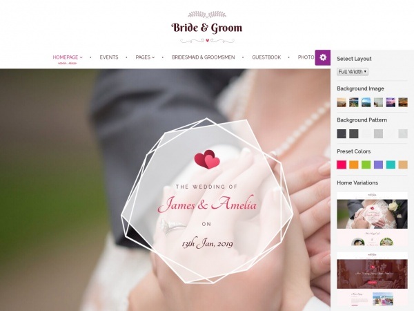 Bride & Groom Theme