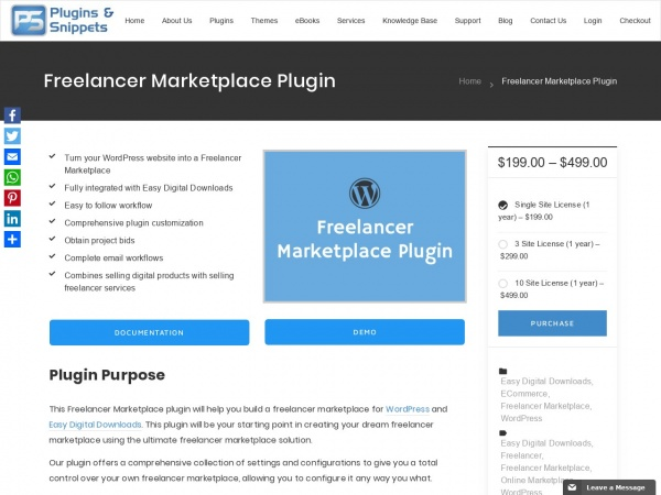 Freelancer Marketplace Plugin