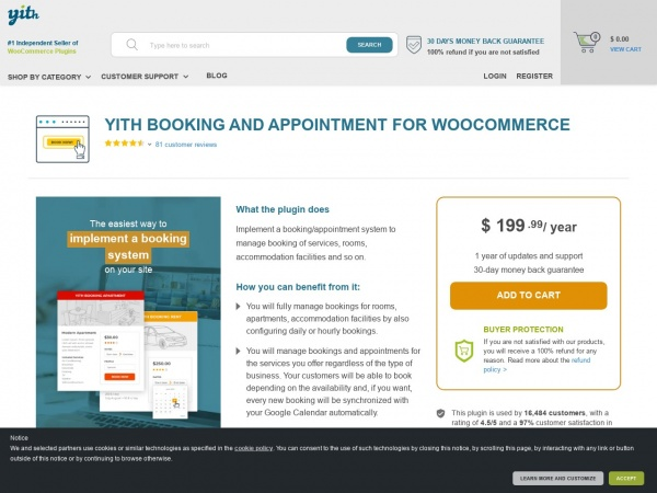 YITH Booking and Appointment