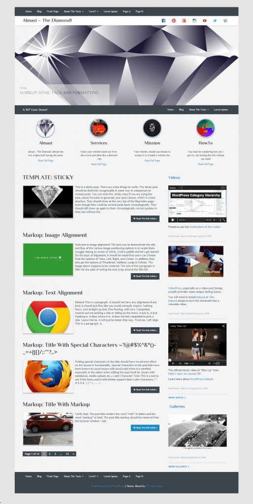 Almasi WordPress Theme