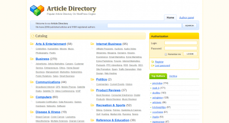 Article Directory WordPress Plugin