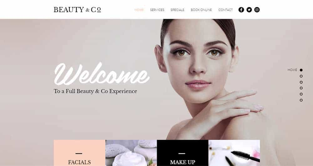 Beauty Salon Wix Template