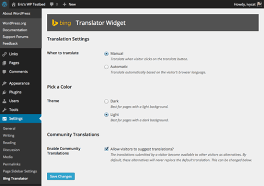 Bing Translator Plugin