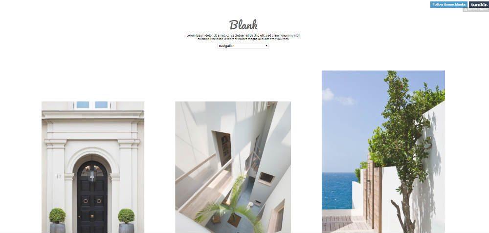 Blank Tumblr Theme