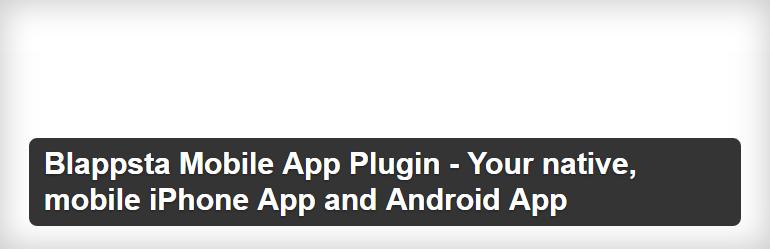 Blappsta Mobile App Plugin