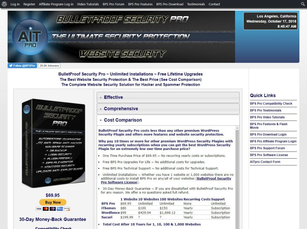 BulletProof Security Pro