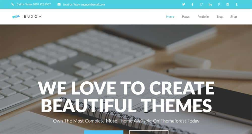 Buxom Muse Template