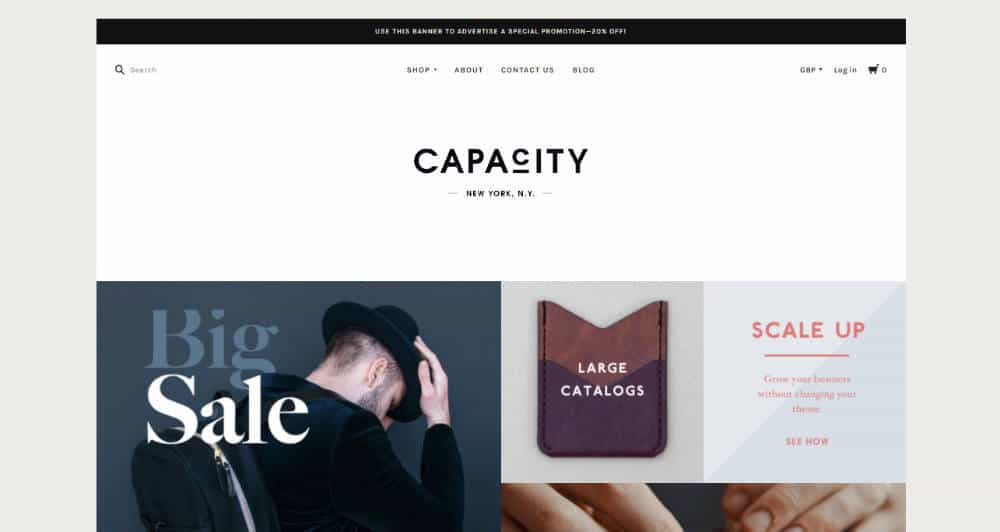 Capacity Warm BigCommerce Theme