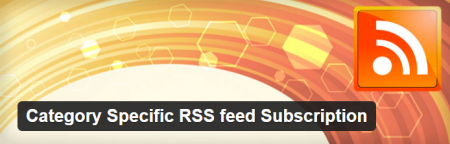 Category Specific RSS Feed Subscription Plugin