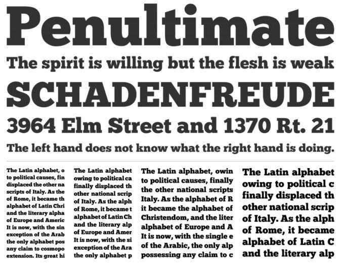 Chunkfive slab serif font