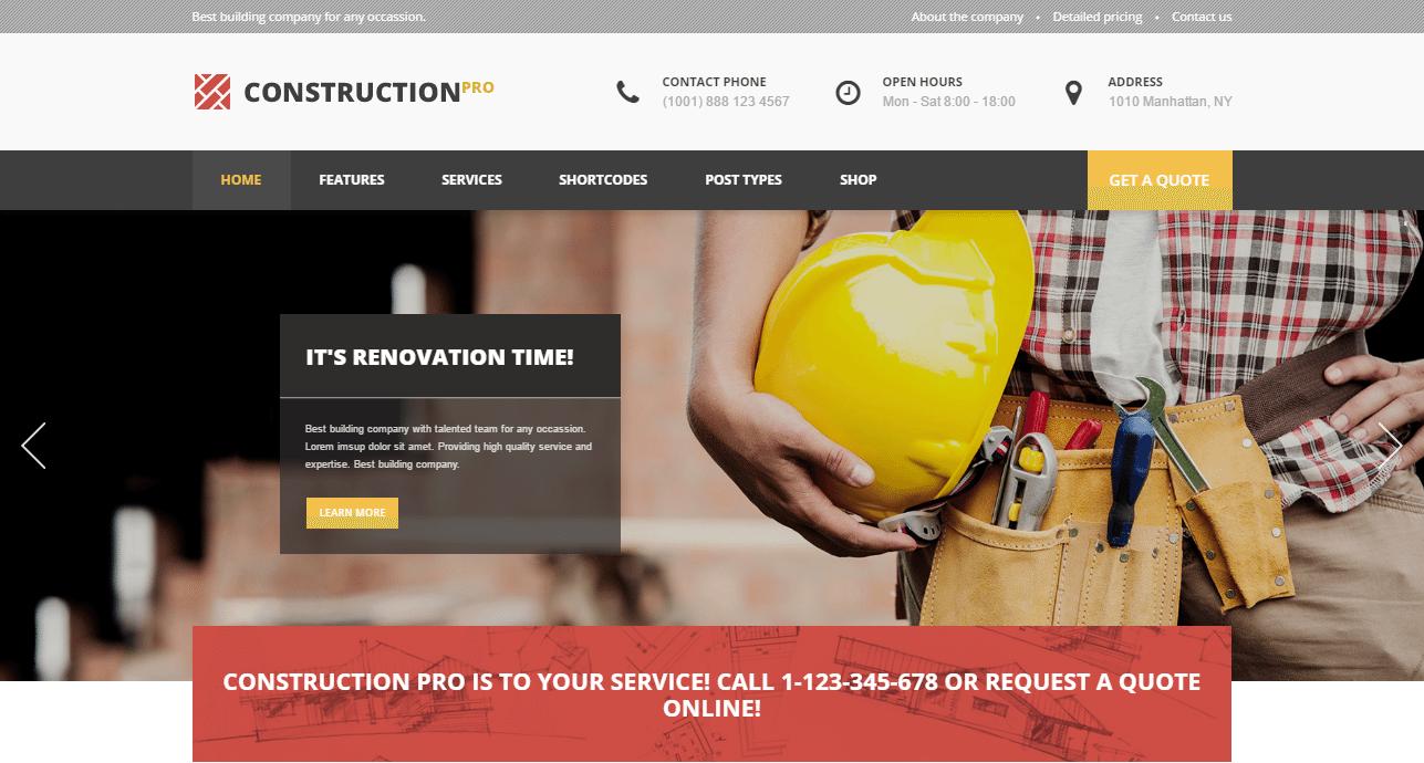 Construction PRO Theme