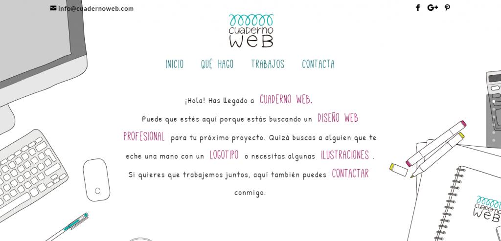 Cuaderno web Divi example