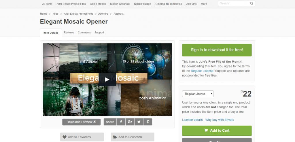 Elegant Mosaic Opener VideoHive
