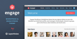 Engage Wordpress Buddy Press Theme