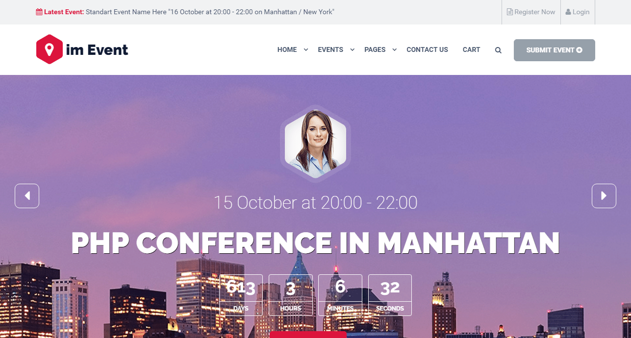 Event Management Theme