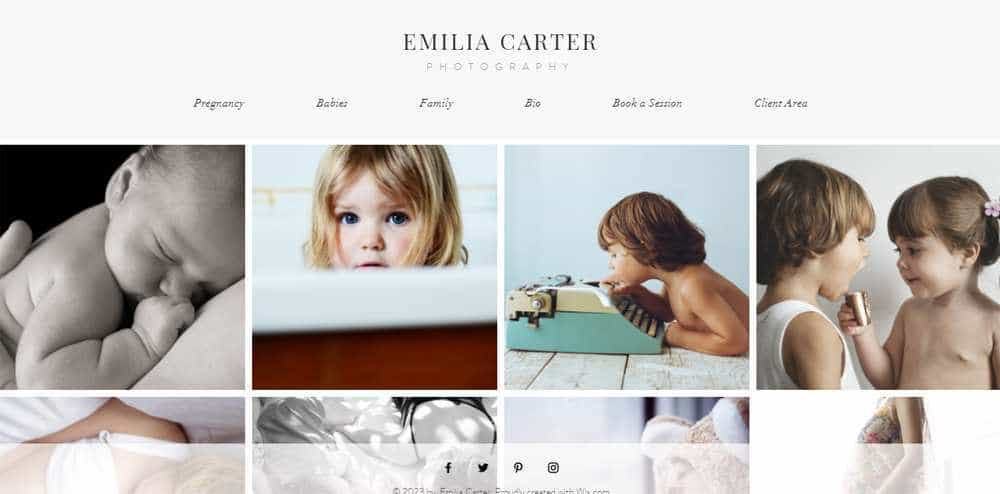 Family Photographer Wix Template