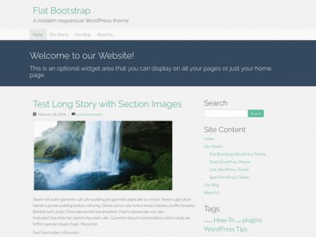 Flat Bootstrap Theme