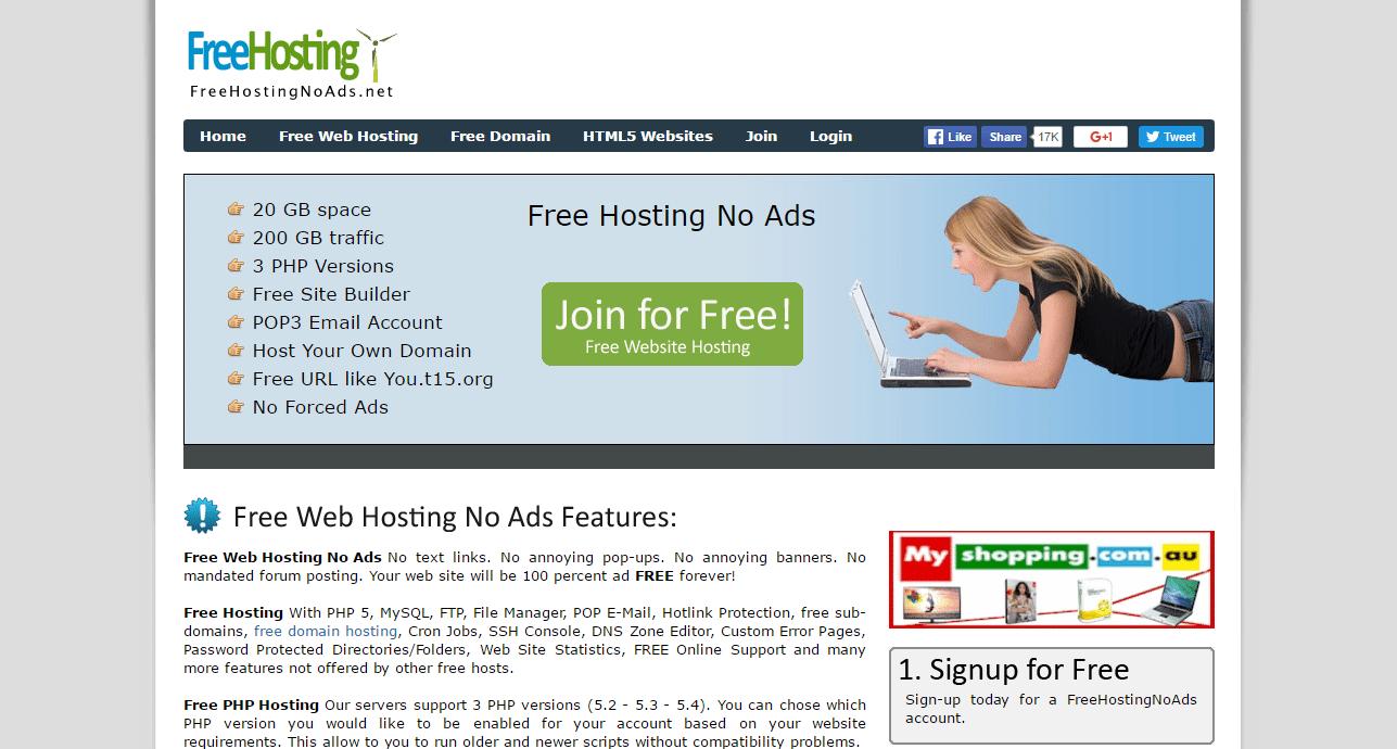 Free Web Hosting No Ads