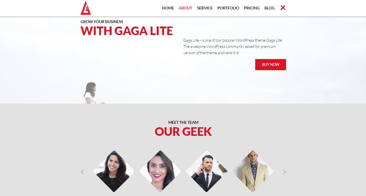 Gaga Lite Theme