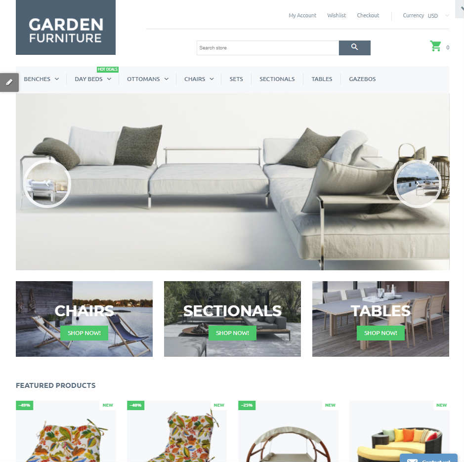 Garden Furniture Shopify Theme