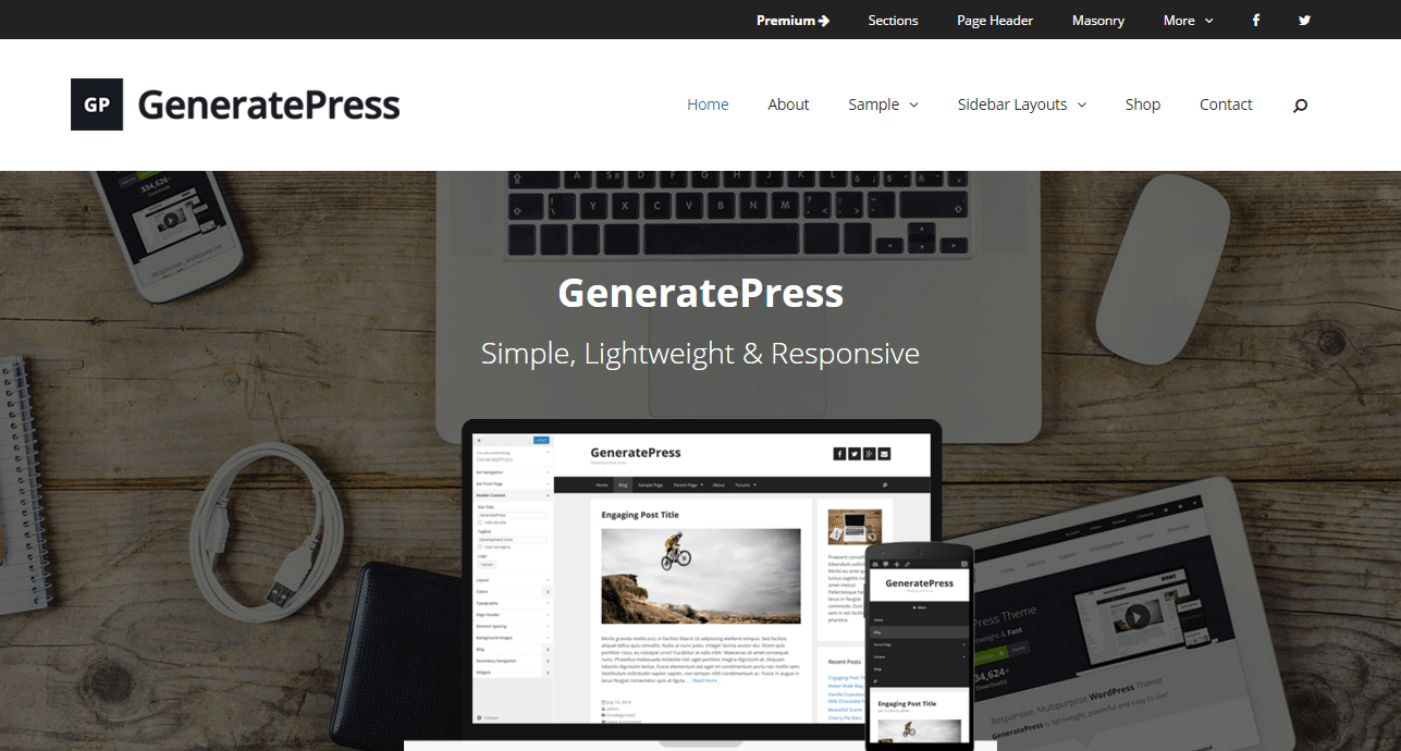 GeneratePress Theme