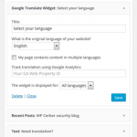 Goo Translate Widget Plugin