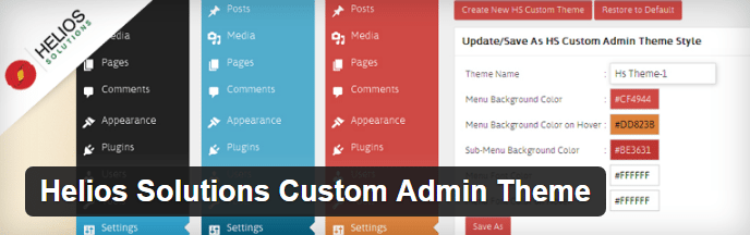 Helios Solutions Custom Admin Theme