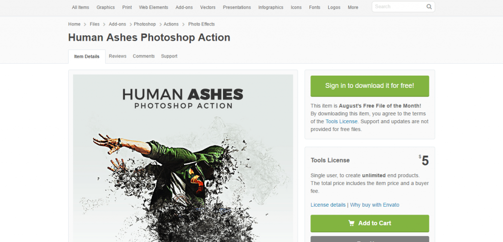 Human Ashes Photoshop Action