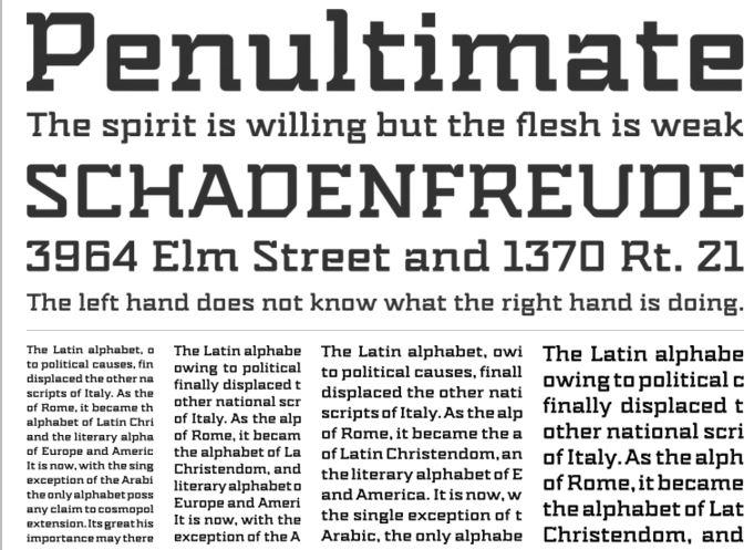 14 Amazing Free Slab Serif Fonts | SoftwareFindr