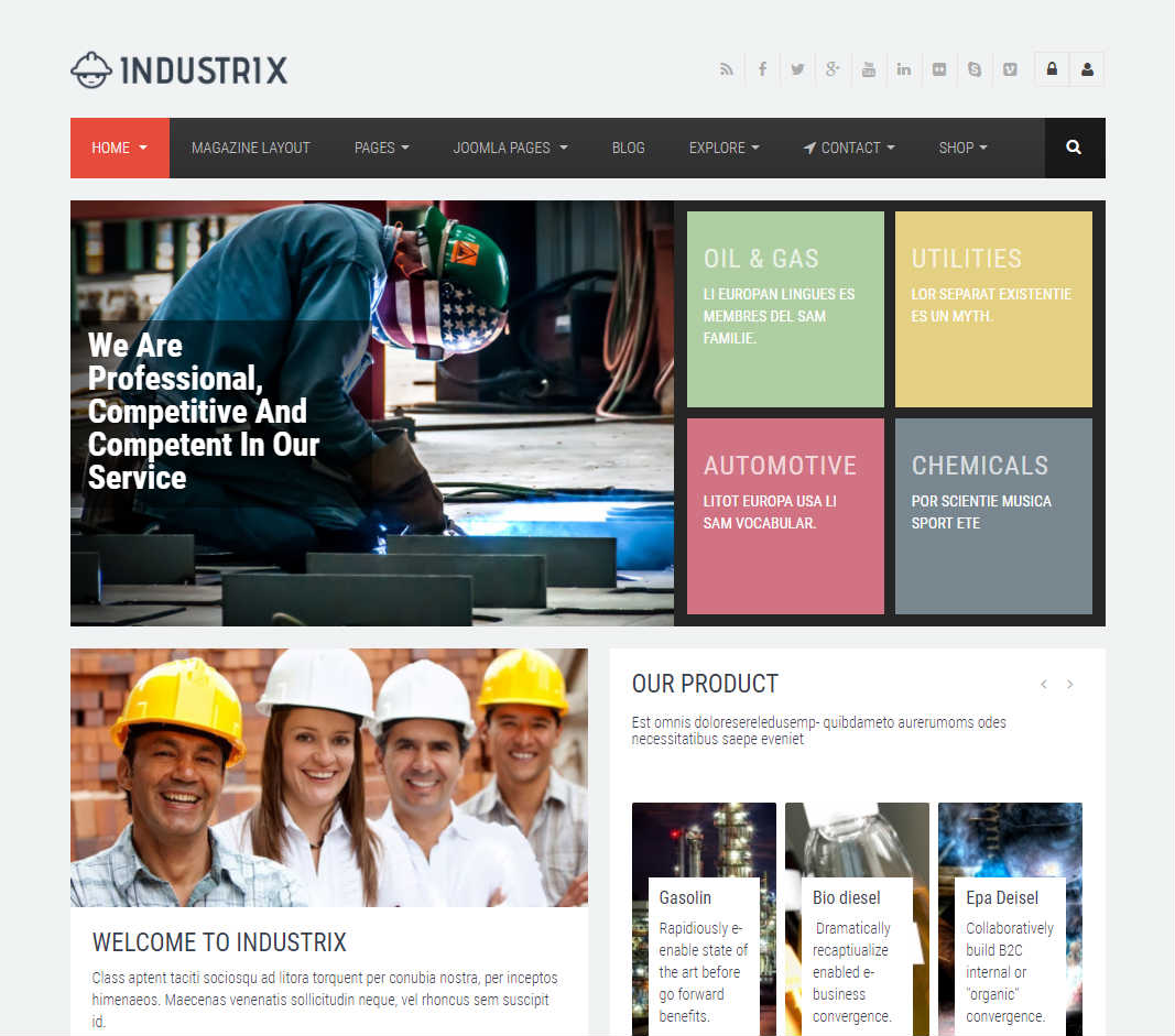 Industrix Joomla Template
