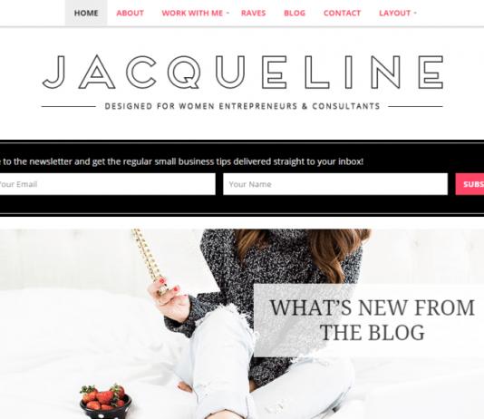 Jacqueline Theme Feminine WordPress Theme