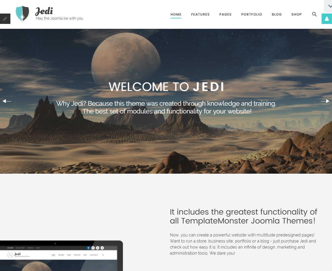 Jedi Joomla Template