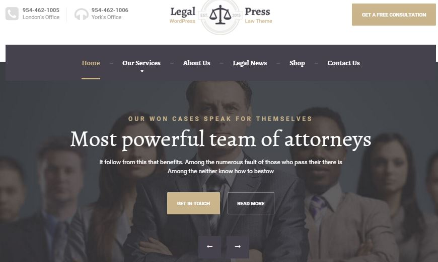 LegalPress Theme
