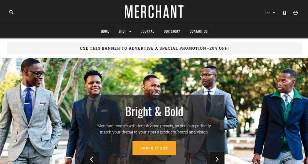 Merchant Bold BigCommerce Theme