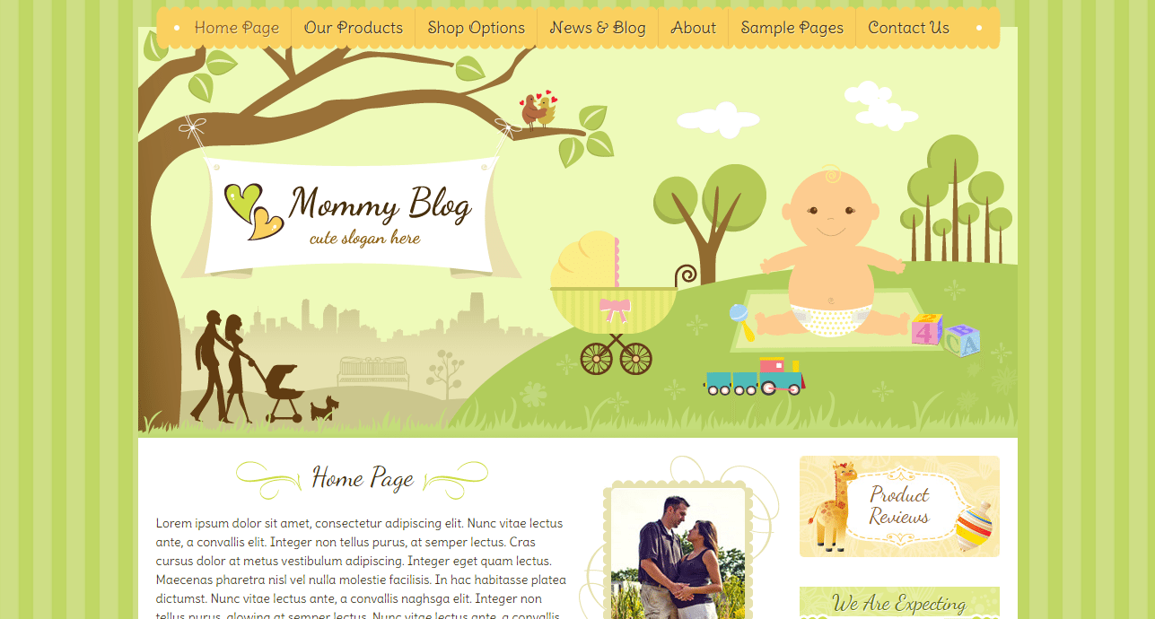 Mommy Blog Theme