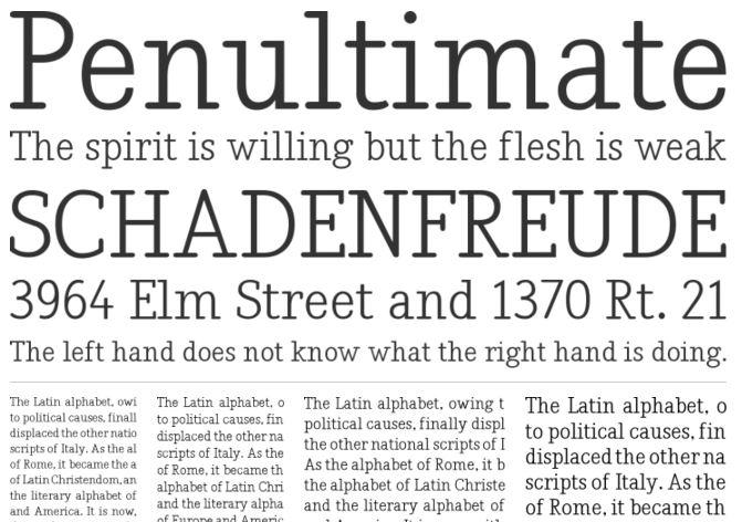 Nadia slab serif font