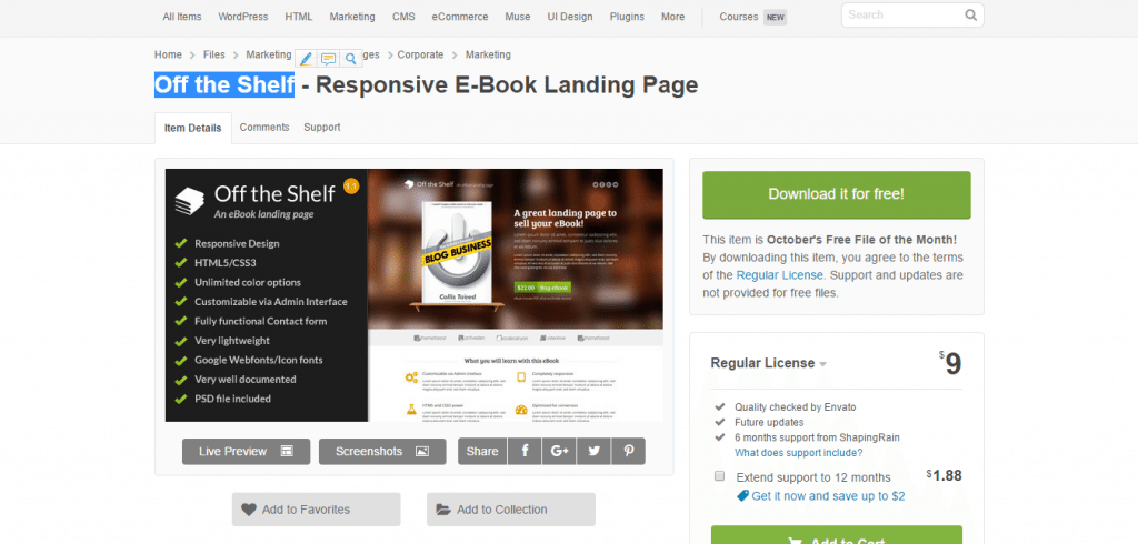 off-the-shelf-landing-page