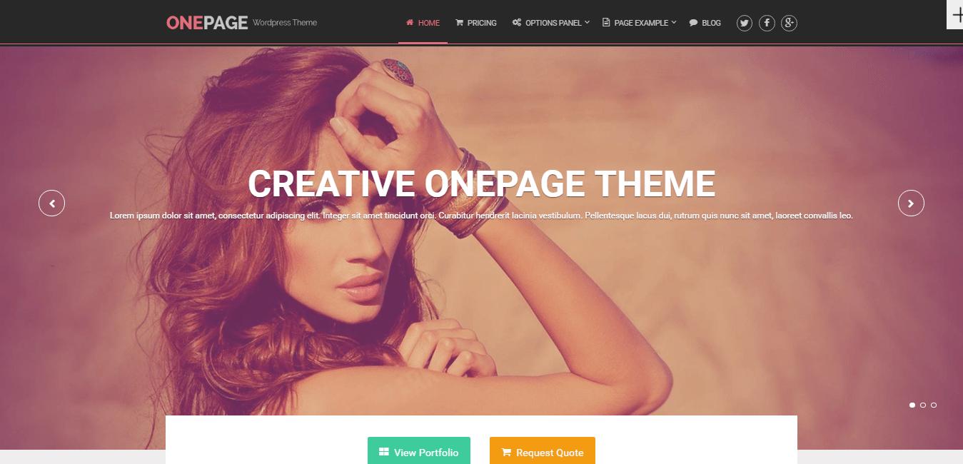 Onepage Theme
