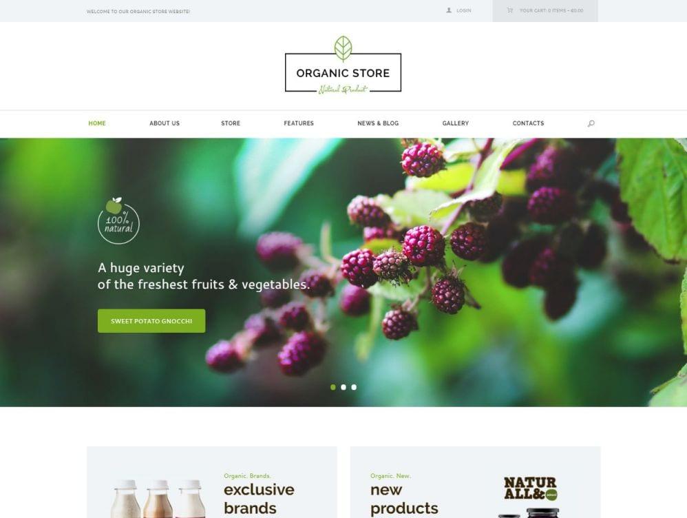 Organic Store Theme