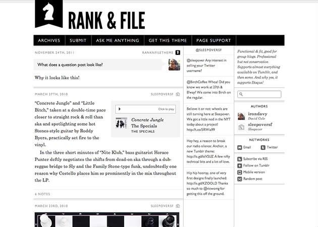 Rank & File Tumblr