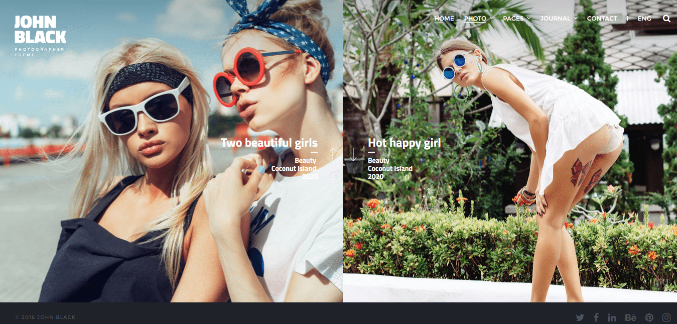 JohnBlack Photography Theme