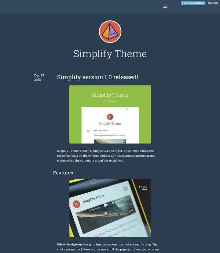 Simplify tumblr