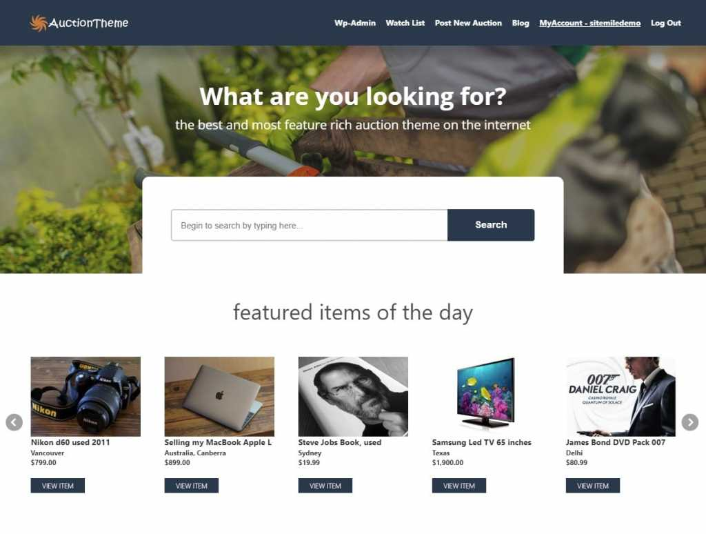 Responsive Auction Theme