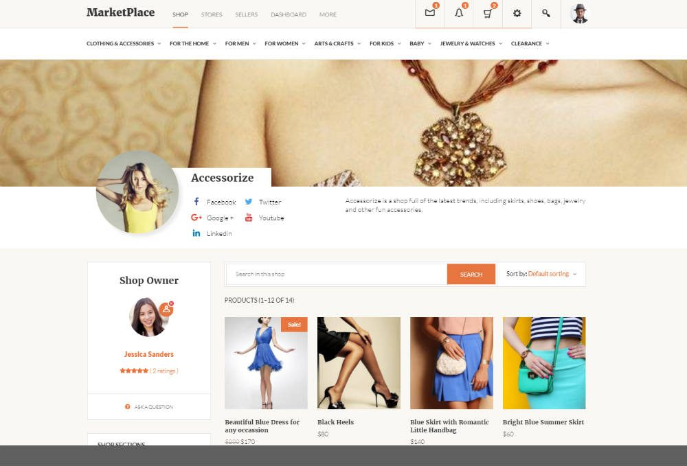Social MarketPlace Theme