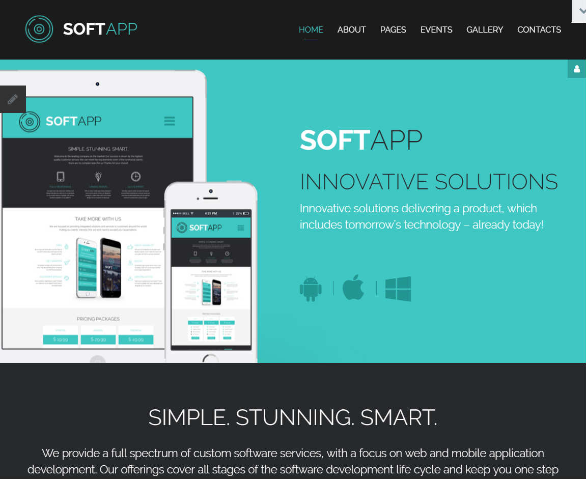 SoftApp Joomla Template