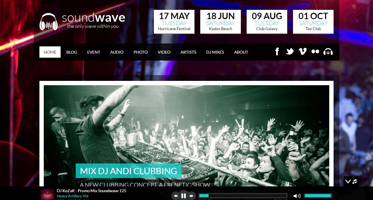 SoundWave Theme