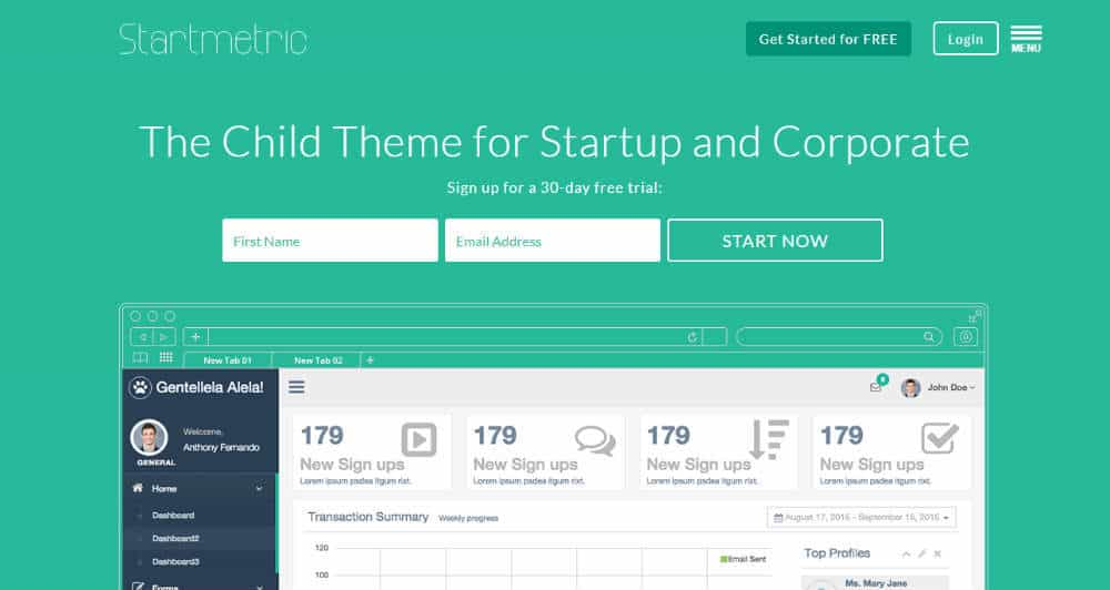 Startmetric Theme